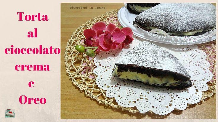 Torta al cioccolato farcita con Oreo | Divertirsi in cucina