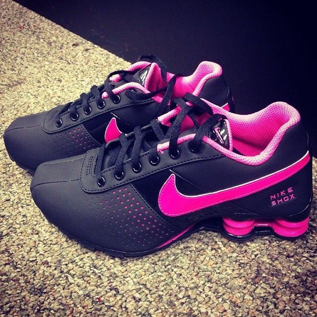 Find this Pin and more on Fitness Inspiration. Nike Shox ♥ black and pink!  2015 cheap nike shoes for sale ...