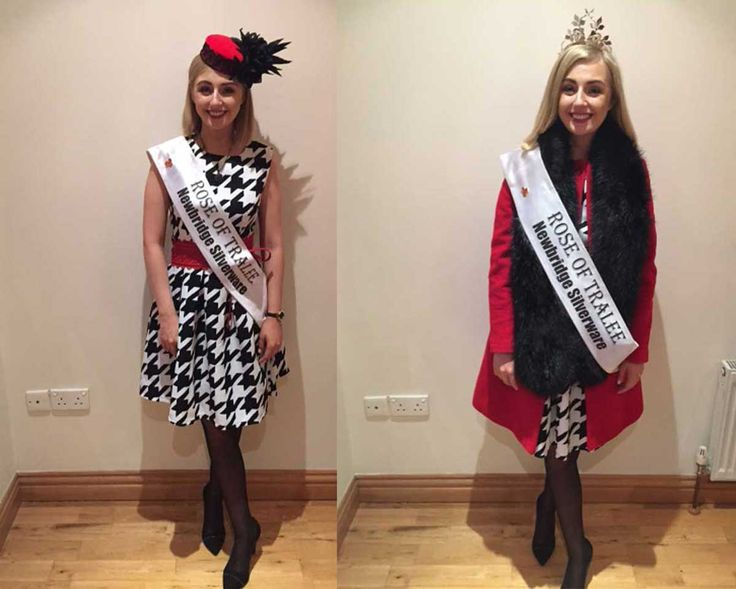 Elysha kicks off her Nationwide tour in monochrome dress with classic red coat.
