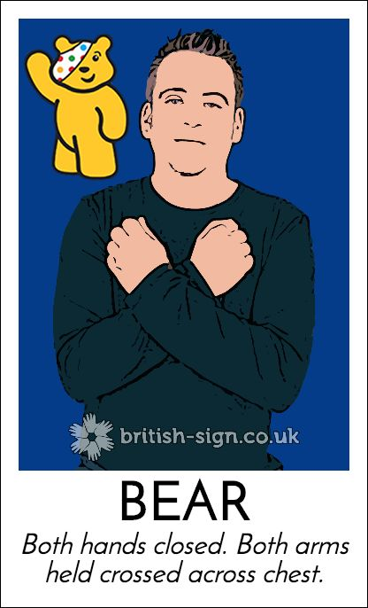 Today's #BritishSignLanguage sign is: BEAR #ChildrenInNeed #Pudsey