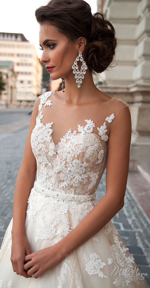 25 best ideas about illusion wedding dresses on pinterest for Wedding dress with illusion top