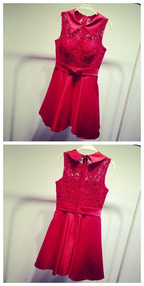 Gd374 Lace Graduation Dress,Short Graduation Dress,High Neck Graduation Dress,Fashion Graduation Dress