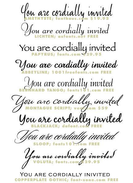 best 25+ wedding invitation fonts ideas on pinterest,