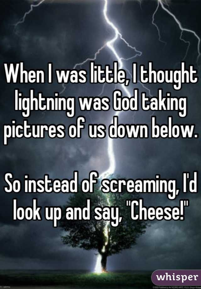 "<b>""I used to think avocados were dinosaur eggs.""</b> These silly kid confessions come from the secret-sharing app <a href=""http://go.redirectingat.com?id=74679X1524629&sref=https%3A%2F%2Fwww.buzzfeed.com%2Ferinchack%2Fridiculously-funny-examples-of-kid-logic&url=http%3A%2F%2Fbit.ly%2F1m4z4sG&xcust=3115573%7CBFLITE&xs=1"" target=""_blank"">Whisper</a>."