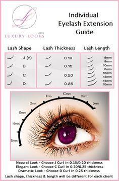 eyelash extension guide - Pesquisa Google