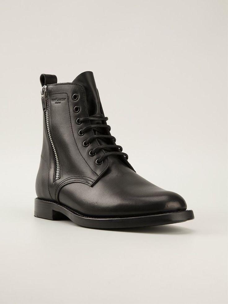 #saintlaurent #shoes #ranger #laceupshoes #black #womens #boots #sales www.jofre.eu
