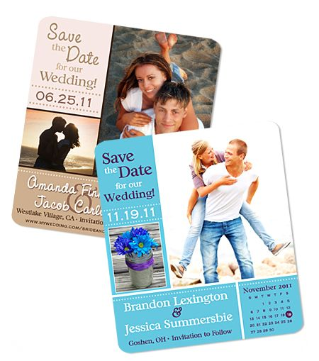 """Create Your Own"" Photo Square save the date magnet"