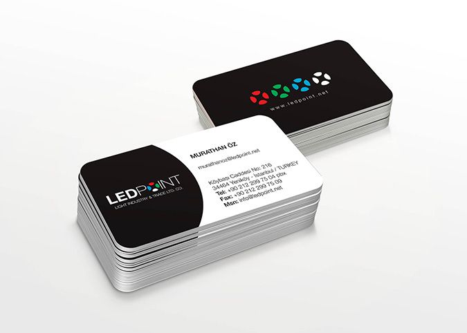 """LEDPOINT"" Business Card Design"
