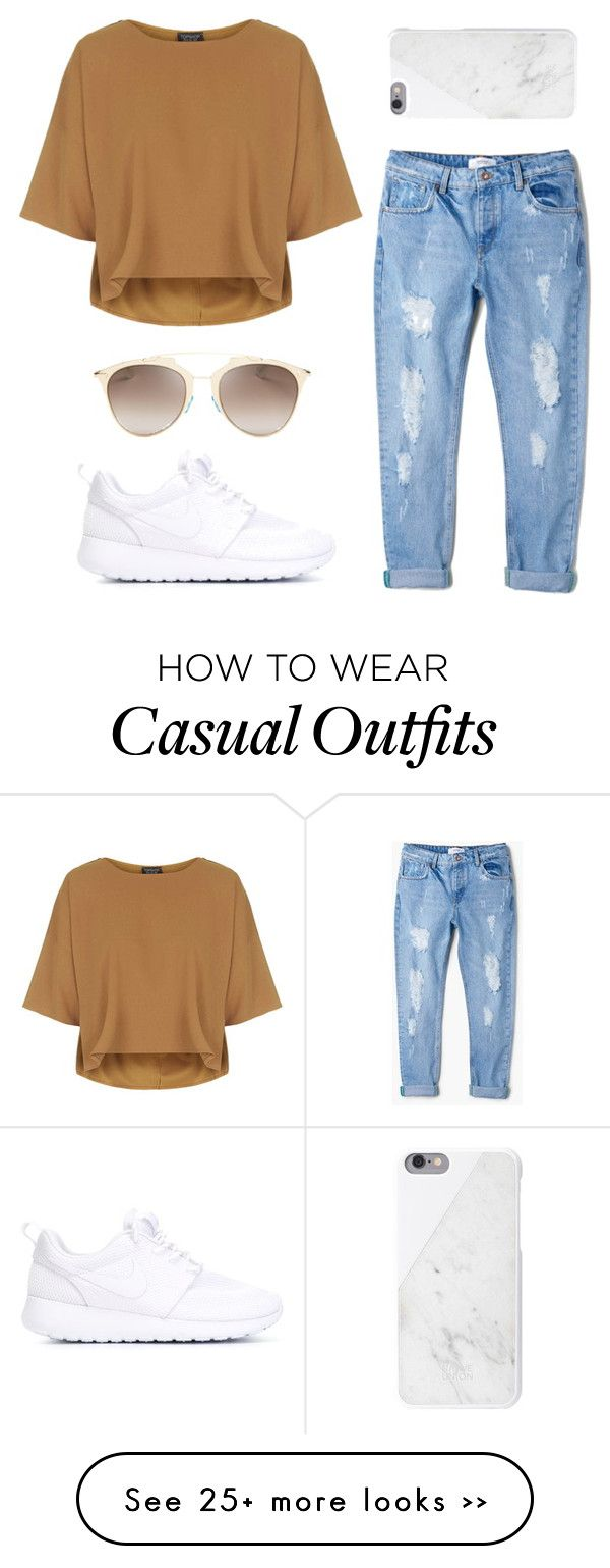 """""""Casual with Nike roshe"""" by hellobrit on Polyvore"""