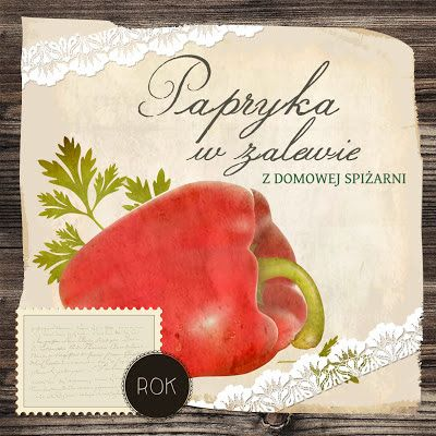 My Pink Plum!: Etykiety na przetwory: ogórki kiszone, grzybki marynowane, papryka w zalewie, cz. 2