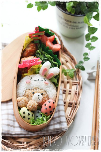 Line Brown & Cony Easter Bento