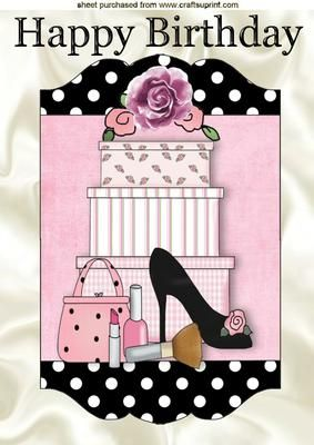 SHOES HANDBAG WITH GIFTS IN POLKADOT FRAME A4 on Craftsuprint - Add To Basket!