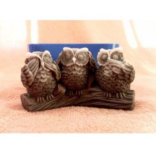 3D Uil zeep mallen handgemaakte siliconen mallen voor zeep bakken ware bakken…