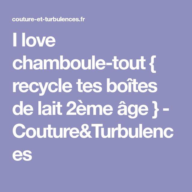 I love chamboule-tout { recycle tes boîtes de lait 2ème âge } - Couture&Turbulences