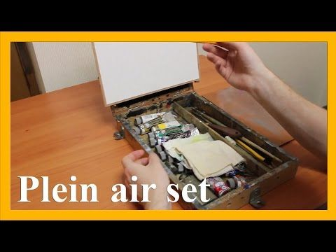 What do I need to take to paint en plein air - basic set (subtitles), more info on www.daniil-belov.com