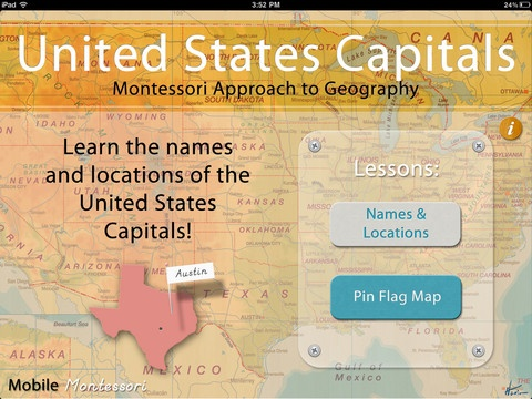 130 best social studies apps images on pinterest app store apps montessori approach to geography hd united states capitals on the app store sciox Images