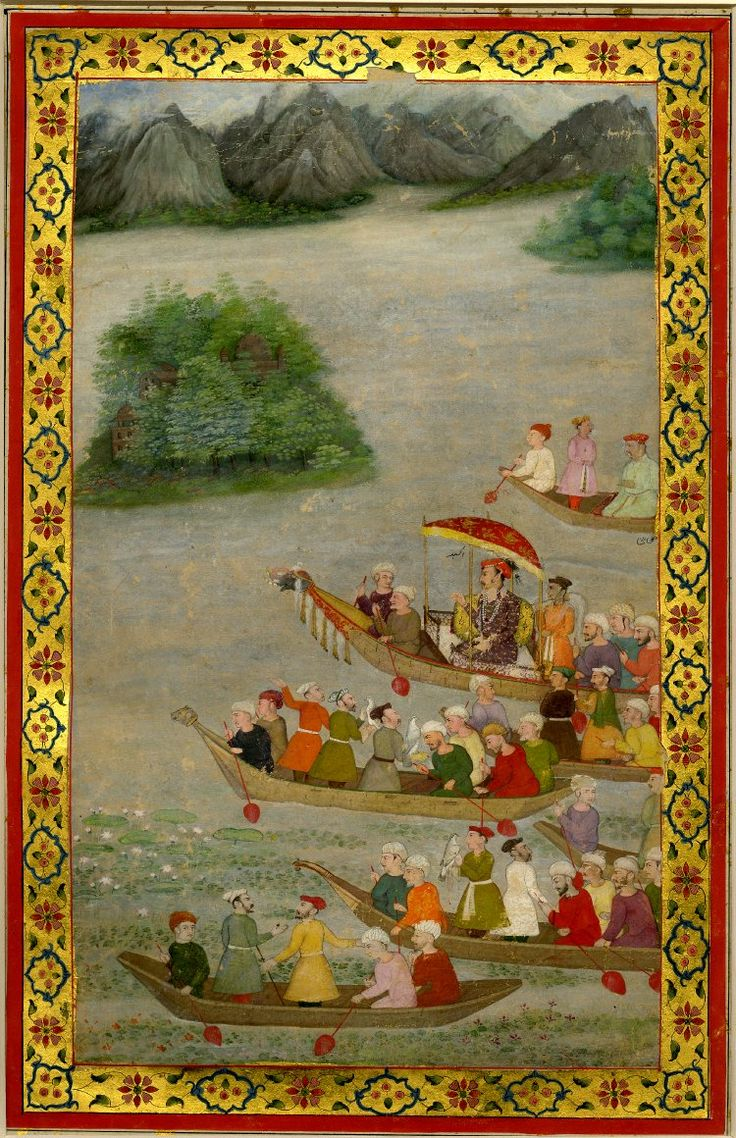 Jahangir hunting with hawks
