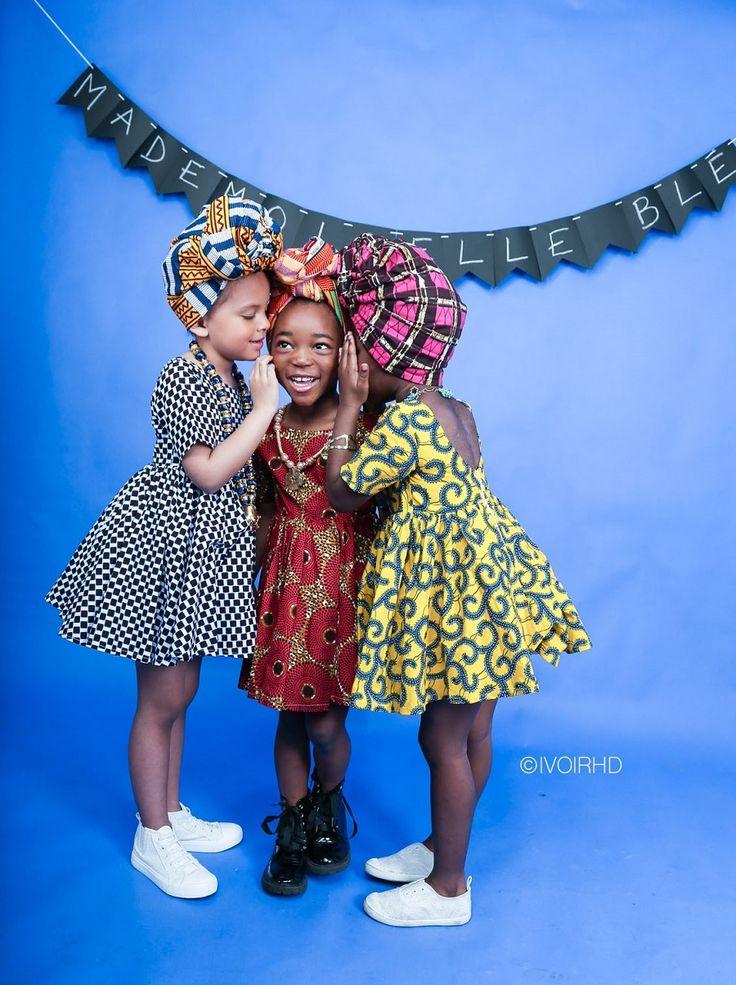 Mademoiselle Blé propose des vêtements en wax pour les petites filles de 2 à 12 ans. Akwaba, bienvenue en Côte d'Ivoire, est le nom de sa collection 2017