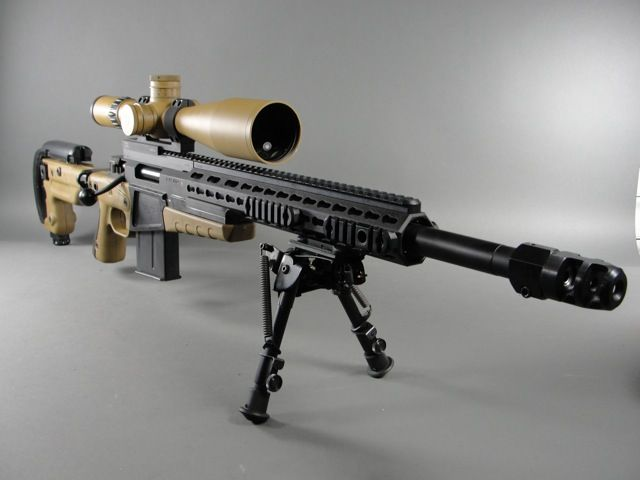 Accuracy International AX rifle in .308win with Schmidt & Bender Police Marksman II in exclusive European finish to match AI stock.  Guaranteed to hold sub 1/2MOA groups.