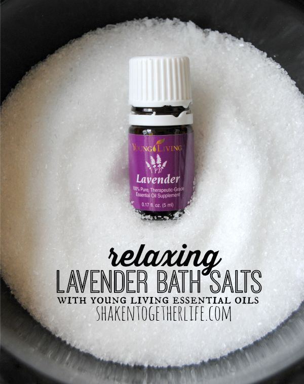 Relaxing lavender bath salts with Young Living lavender essential oils!