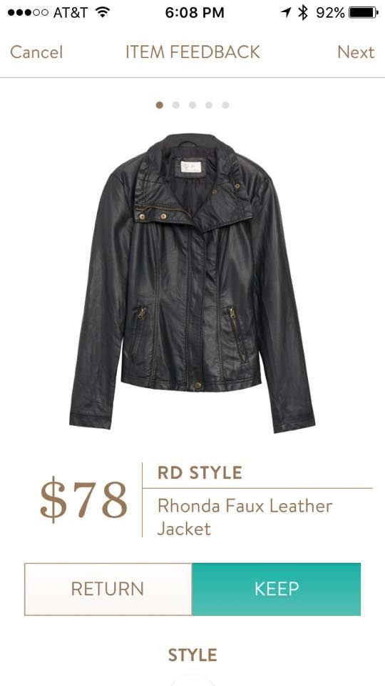 #stitchfix @stitchfix stitch fix https://www.stitchfix.com/referral/3590654  RD Style Rhonda Faux Leather Jacket
