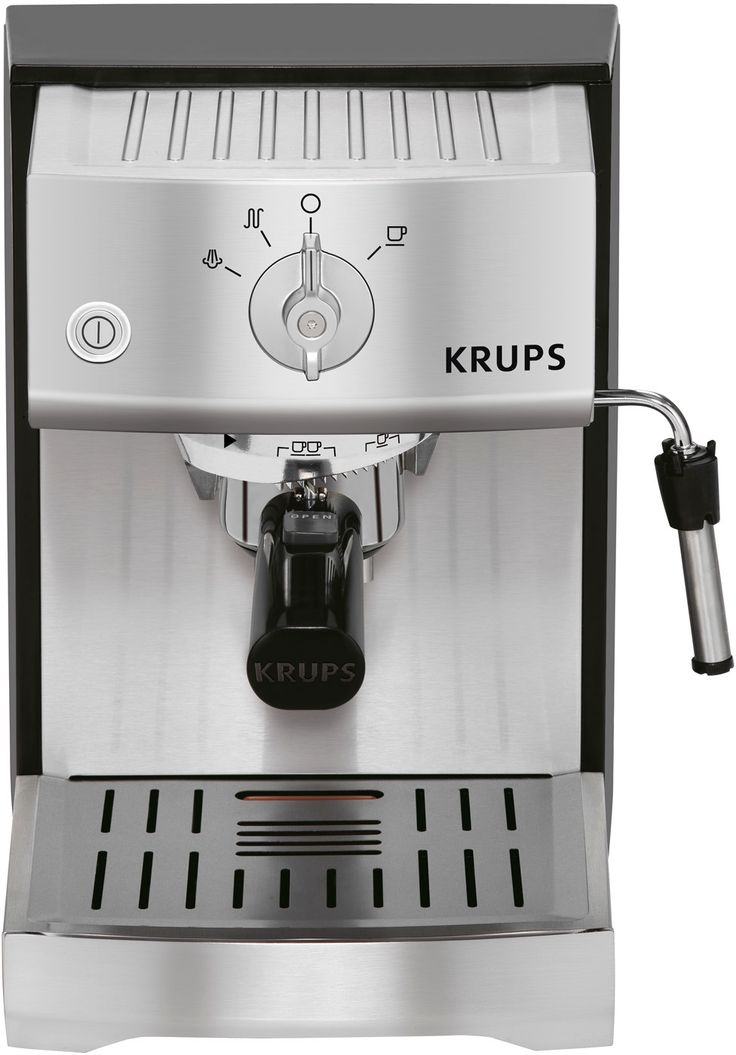 Passion, precision, and perfection. That's Krups' way of thinking, and it's what comes to mind with this espresso machine. Create cafe quality espressos, lattes, or cappuccinos, with ease and speed; the 1400-watt heating system pre-heats twice as fast as traditional espresso machines (and resists lime-scale buildup).