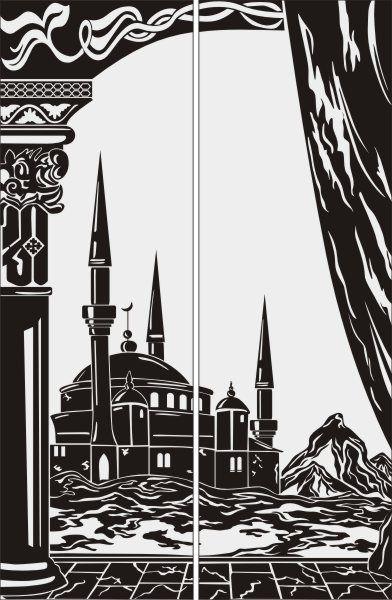 Красивая Мечеть в векторе | Мечеть, Рисунки, Вектор