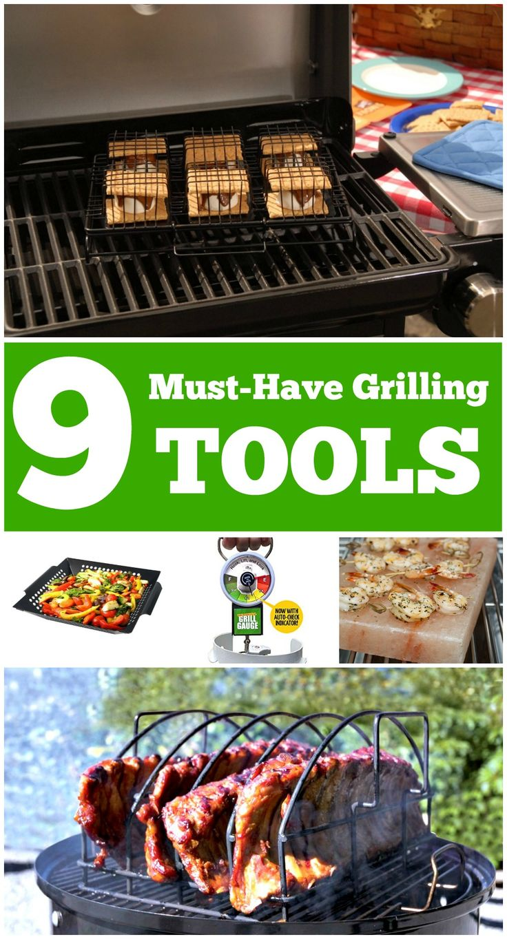 9 Must-Have Grilling Tools and Gadgets -- These BBQ tools and gadgets are must haves for every grill king or queen! Here are 9 of my must-have grilling gadgets and tools: http://scrappygeek.com/bbq-grilling-tools-gadgets/