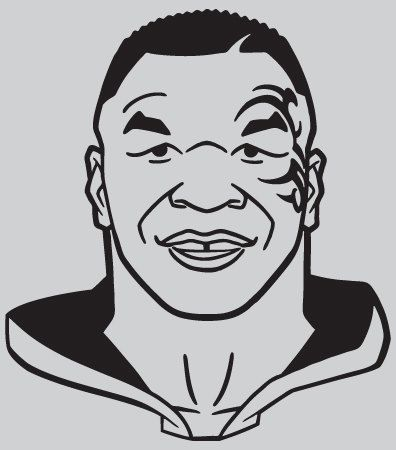 MIKE TYSON Vinyl Decal - Mike Tyson Mysteries by Buttonaked on Etsy