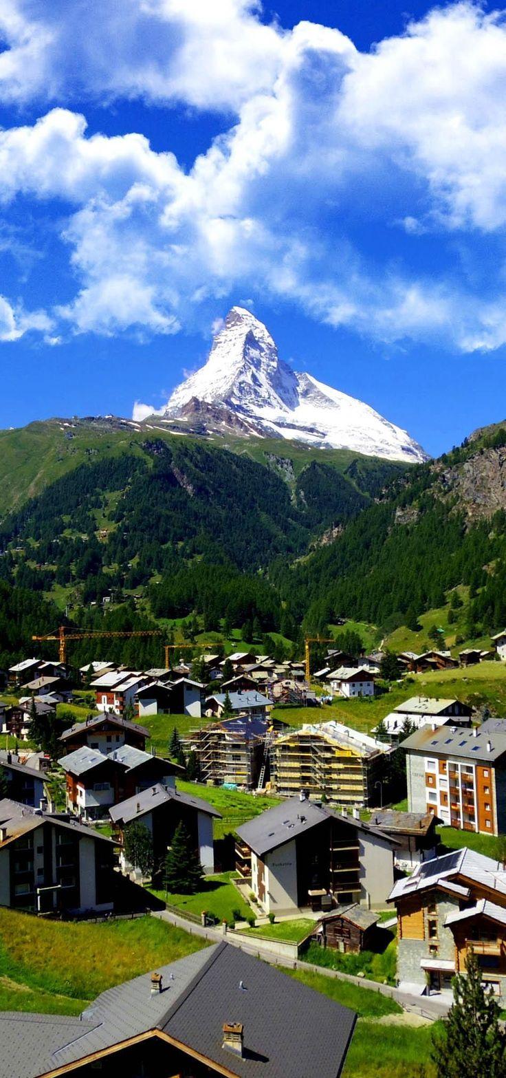 Zermatt Switzerland, green car-free city   See why Switzerland is the Country where Splendor seems to be Endless
