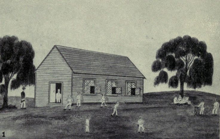 The First School House in Melbourne 1837-38
