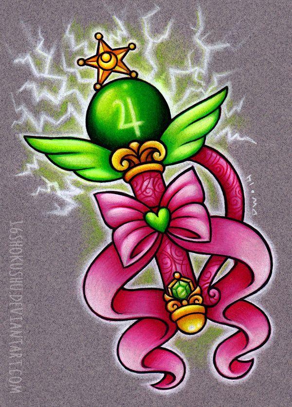 Sailor Jupiter's Transformation Wand artwork tattoo idea