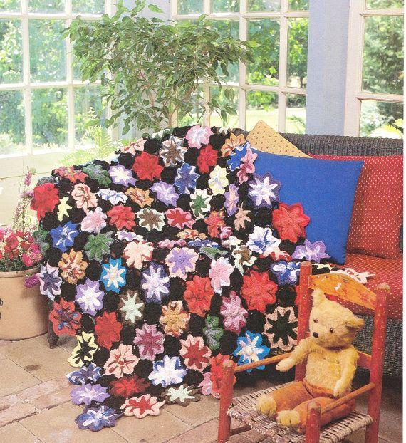 CROCHET PATTERN  Flower Victorian Blanket by GrandmaHadItGoinOn
