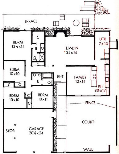 388 best house plans images on pinterest | modern houses, vintage