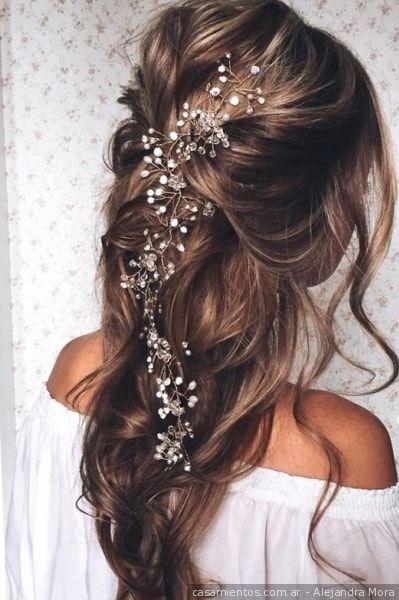 Ideas para peinados semirecogidos. Si querés un look de novia freco y natural, ¡un semirecogido es perfecto para vos!