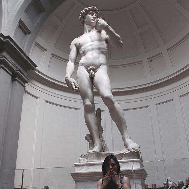 Accademia Gallery Florence Italy | ... seria a beleza ideal de um homem 😌} #Florenca #Florence #Firenze