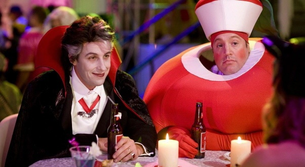 Ah chuck and larry nothing like two best friends at a gay bar and ones an apple and ones Dracula with lipstick and beer. xD