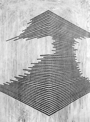 Danny Jauregui | Ruin #5 | Graphite and ash on panel