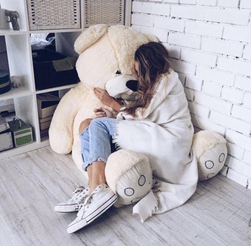 Ojalá hubiera alguien que me diera un oso así .