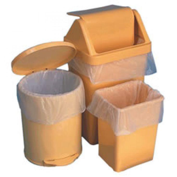 Clear swing bin liner 6mu 13x33x30 1000 in a case