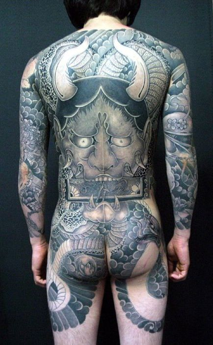 Demon japanese yakuza tattoo idea