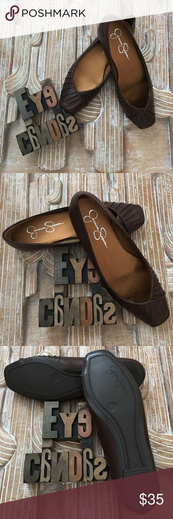 Jessica Simpson 'Emmly' Ballet Flats New Without Tags. The tiny dancer who can fit into these size 5 1/2 square toe chocolate brown ballet flats will rule that dance floor! Pet free/smoke free home. Jessica Simpson Shoes Flats & Loafers