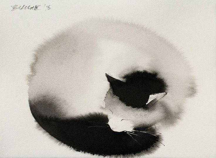 De nouvelles aquarelles de chats par Endre Penovac  Dessein de dessin
