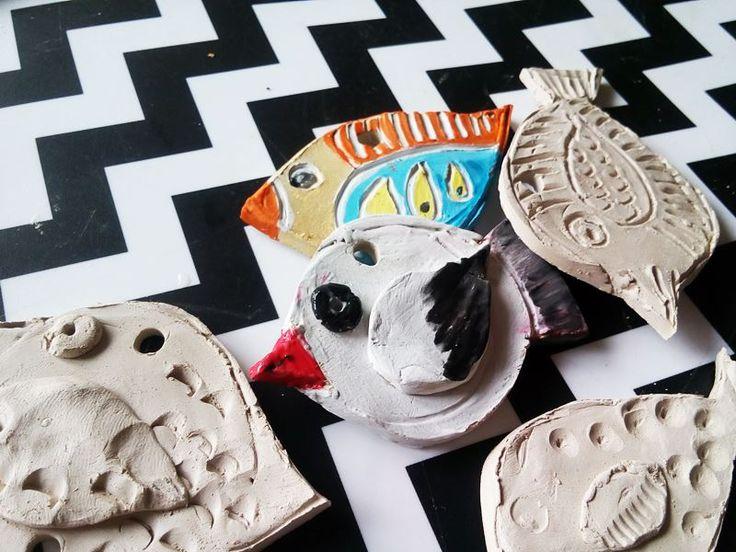 Ptaszki z gliny-dekoracja pokoju lub ogrodu - Kreatywnym Okiem - edukacyjno-kreatywny blog