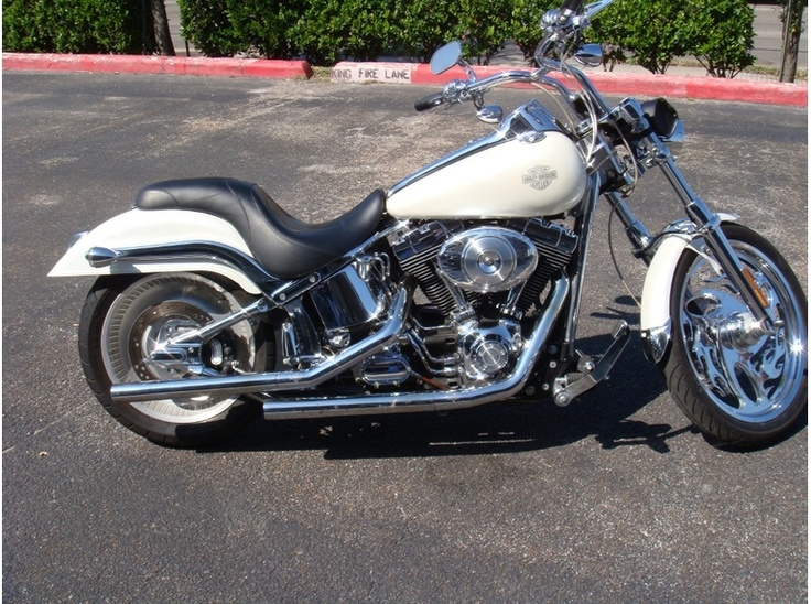 2003 harley davidson softail deuce fxstd white with white ghost flames things i want. Black Bedroom Furniture Sets. Home Design Ideas