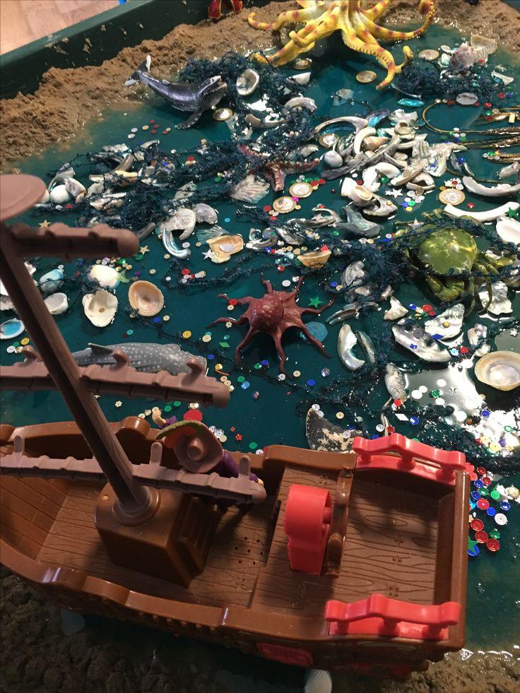 Pirate small world tuff tray