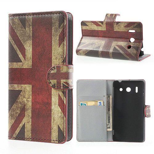 Britse vlag booktype hoesje voor Huawei Ascend G510