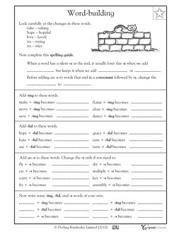 3rd Grade 4th Grade Writing Worksheets Building Words Fourth