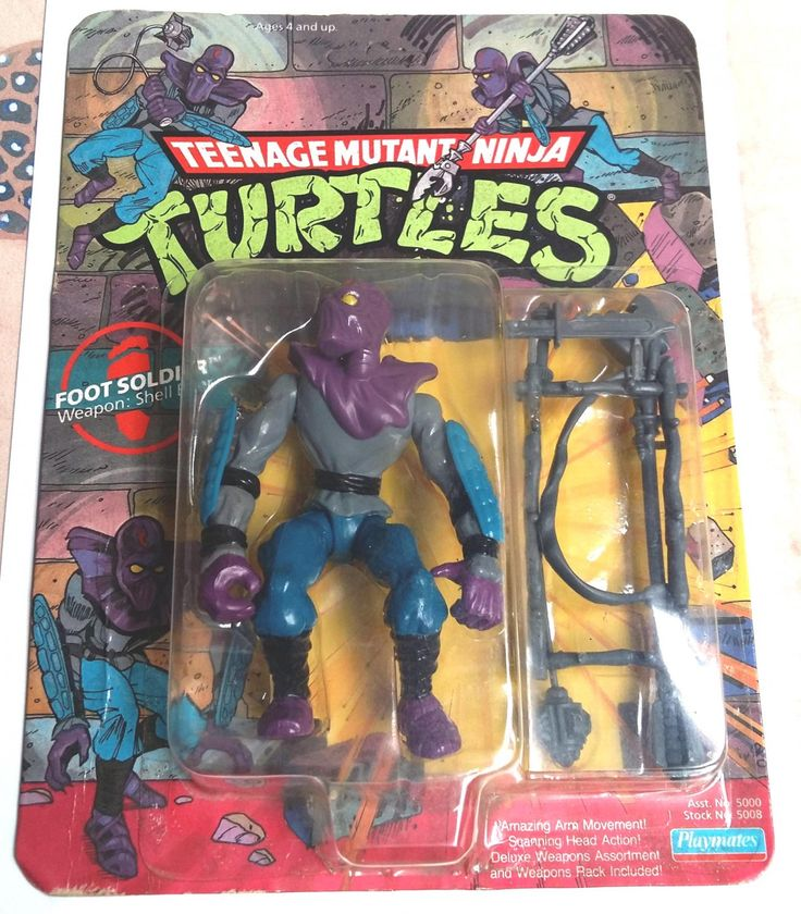 Foot+Soldier+Teenage+Mutant+Ninja+Turtles+TMNT+Playmates+1988+(Unpunched)