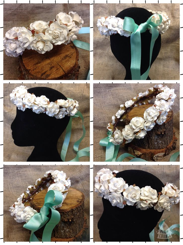 Luxury handmade bespoke artificial flower crowns #wedding #flower #crown #ivory #mint #boho #handmade #bespoke #luxury #bride #flowergirl